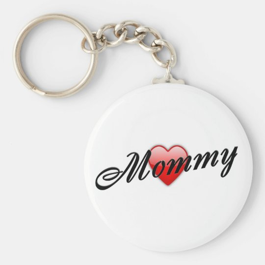 Mommy with Heart Keychain