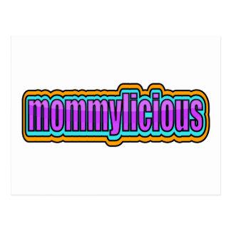 Mommylicious, enrrollado -- Púrpuras, azul, naranj Postales