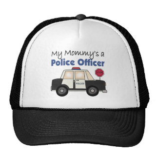 Mommy's A Police Officer Mesh Hats