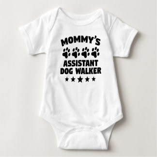 Mommy's Assistant Dog Walker Baby Bodysuit
