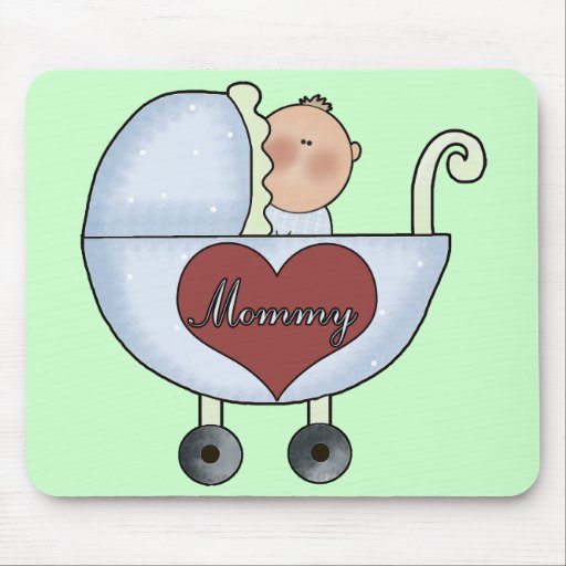 Mommy's Baby Boy Mousepads