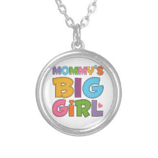Mommys Big Girl Round Pendant Necklace