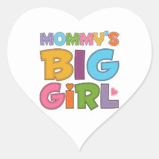 Mommys Big Girl Heart Sticker