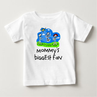 Mommy's Biggest Fan Stick Figure T-shirts