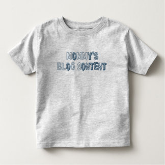 mommy's blog content: blue toddler t-shirt
