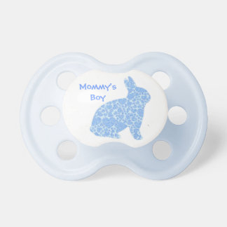 Mommy's Boy Blue Bunny Pacifier