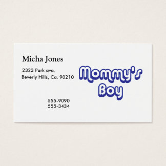Mommy's Boy Business Card