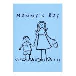 "Mommy's Boy Invitation or Invites 5"" X 7"" Invitation Card"