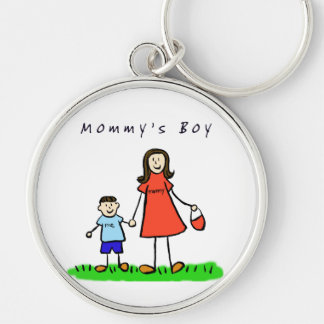 Mommy's Boy Keychain (Brunette Hair)