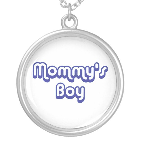Mommy's Boy Silver Plated Necklace