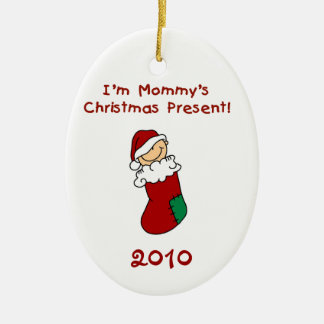 Mommy's Christmas Present  Baby Ornament