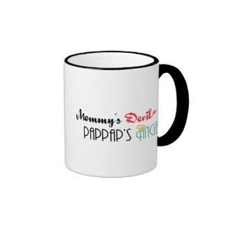Mommy's Devil, PapPap's Angel Ringer Mug
