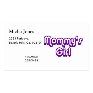 Mommy's Girl Business Card
