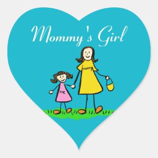Mommy's Girl Custom Family Character Decal Sticker