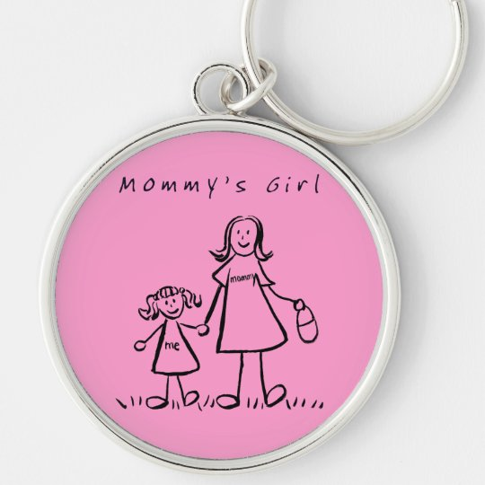 Mommy's Girl Drawing Keychain