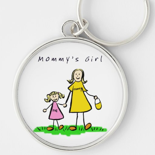 Mommy's Girl Keychain (Blond Hair)
