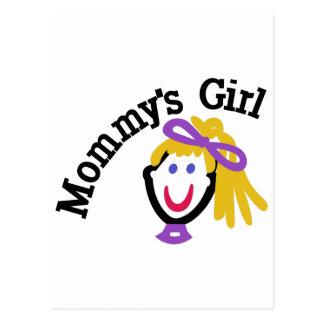 Mommys Girl Postcard