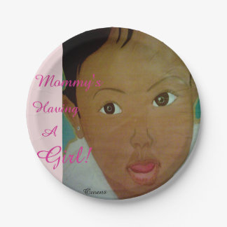"""Mommy's Having A Girl"" Paper Plates 7"""