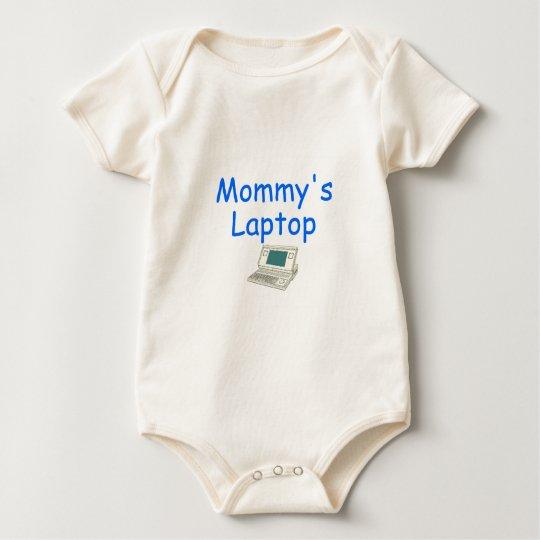 Mommy's Laptop (blue) Baby Bodysuit