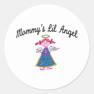 Mommy's Lil Angel Classic Round Sticker
