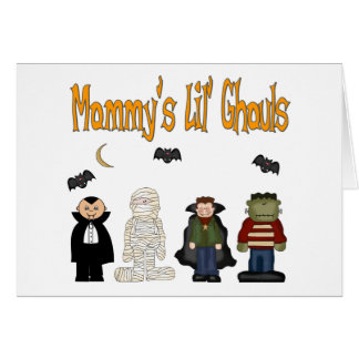 MOMMY'S Lil Ghouls (QUADRUPLETS) Greeting Card