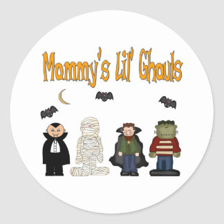 MOMMY'S Lil Ghouls (QUADRUPLETS) Classic Round Sticker