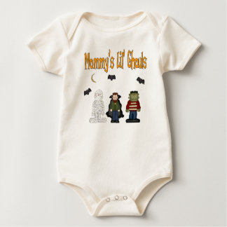 MOMMY'S Lil Ghouls (TRIPLETS) Baby Bodysuit