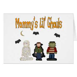 MOMMY'S Lil Ghouls (TRIPLETS) Greeting Card
