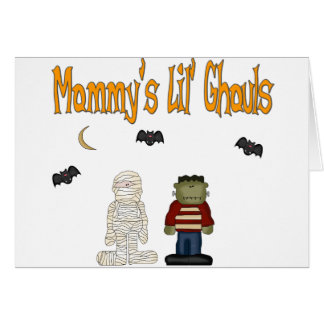 MOMMY'S Lil Ghouls (TWINS) Greeting Card