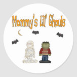 MOMMY'S Lil Ghouls (TWINS) Round Stickers