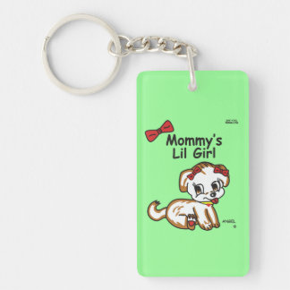 Mommy's Lil Girl Double Sided Key Chain