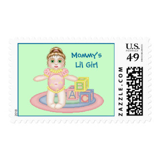 Mommy's Lil Girl Postage Stamp