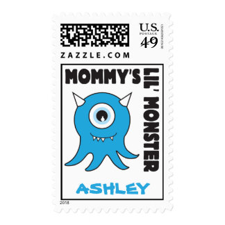 Mommy's lil' Monster blue stamp