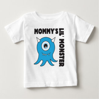 Mommys lil' Monster blue Shirt