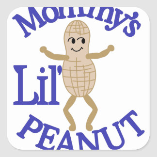 Mommy's Lil' Peanut Square Sticker