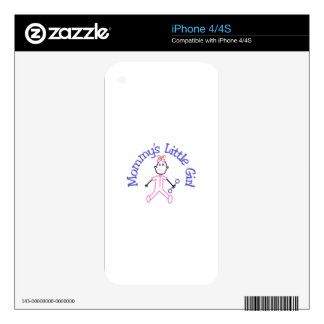 Mommys Litte Girl Decals For iPhone 4S