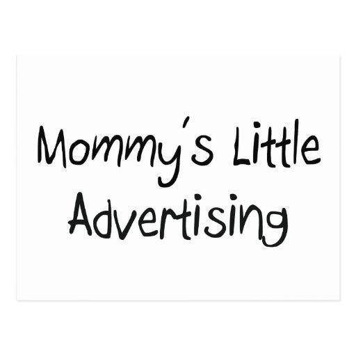 Mommy's Little Advertising Postcard