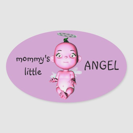 MOMMY'S LITTLE ANGEL STICKERS
