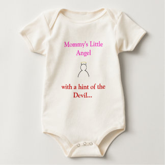 Mommy's Little Angel with the Devil Baby grow Baby Bodysuit
