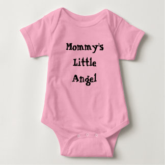 Mommy's Little Angel with Wings on back Baby Bodysuit