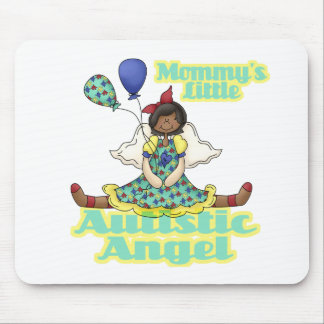 Mommys Little Autistic Angel African American Mouse Pad