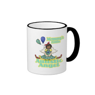Mommys Little Autistic Angel African American Mugs