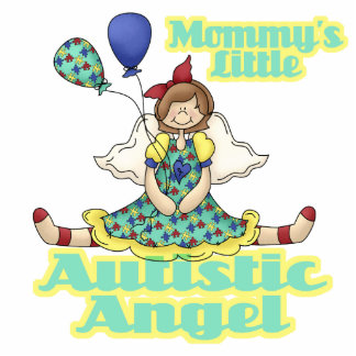 Mommys Little Autistic Angel Standing Photo Sculpture