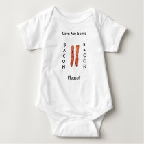 Mommy's Little Bacon Strip, Baby Loves his Bacon Baby Bodysuit