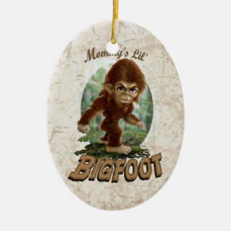 Mommy's Little Bigfoot Ceramic Ornament
