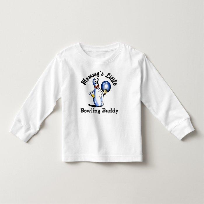 Mommy's Little Bowling Buddy Kids T-shirts