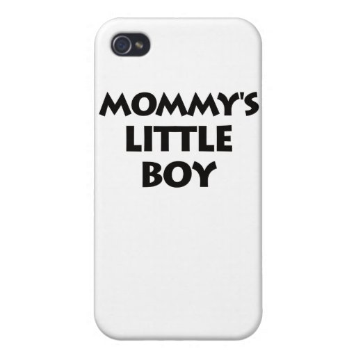 Mommy's Little Boy Cover For iPhone 4