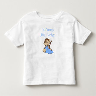 Mommy's Little Boy Monkey Toddler T-shirt