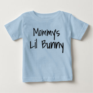 Mommy's Little Bunny Easter Blue Outfit Baby T-Shirt
