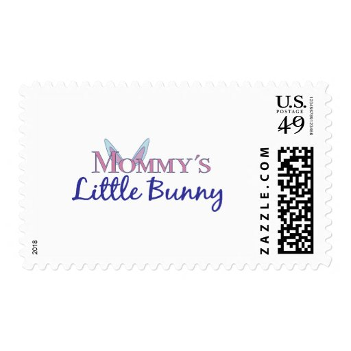 Mommy's little bunny postage stamp